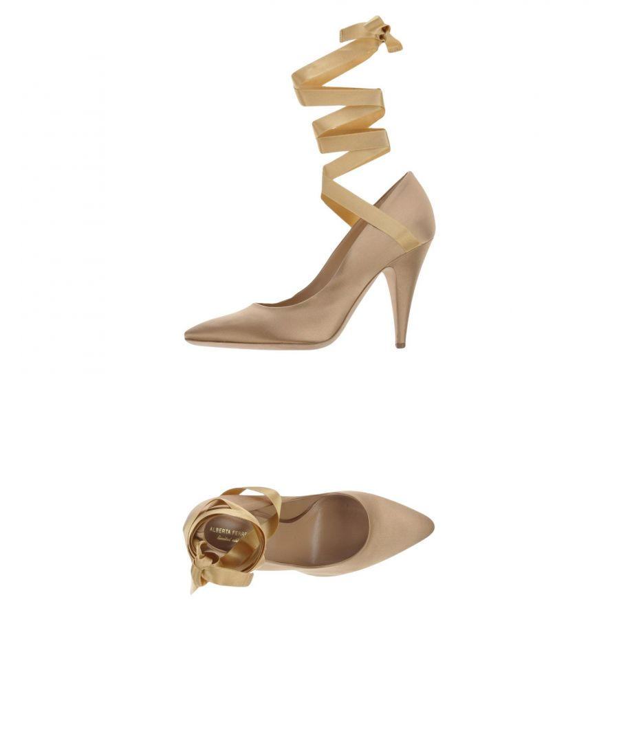 Image for Alberta Ferretti Sand Lace Up Court Shoe Heels