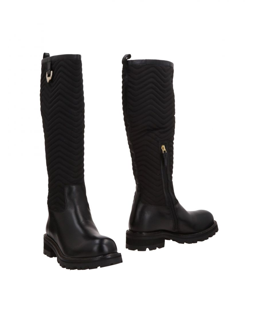 Image for Twinset Black Leather Knee High Boots