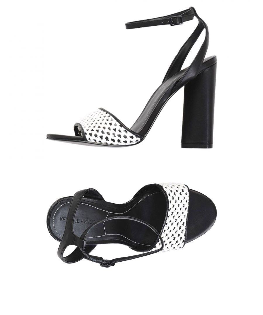Image for Kendall + Kylie White Leather Heeled Sandals