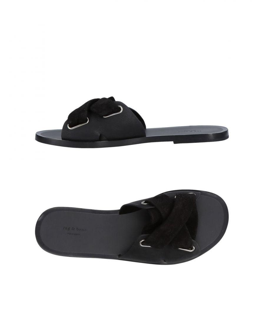Image for Rag & Bone Black Leather Sandals
