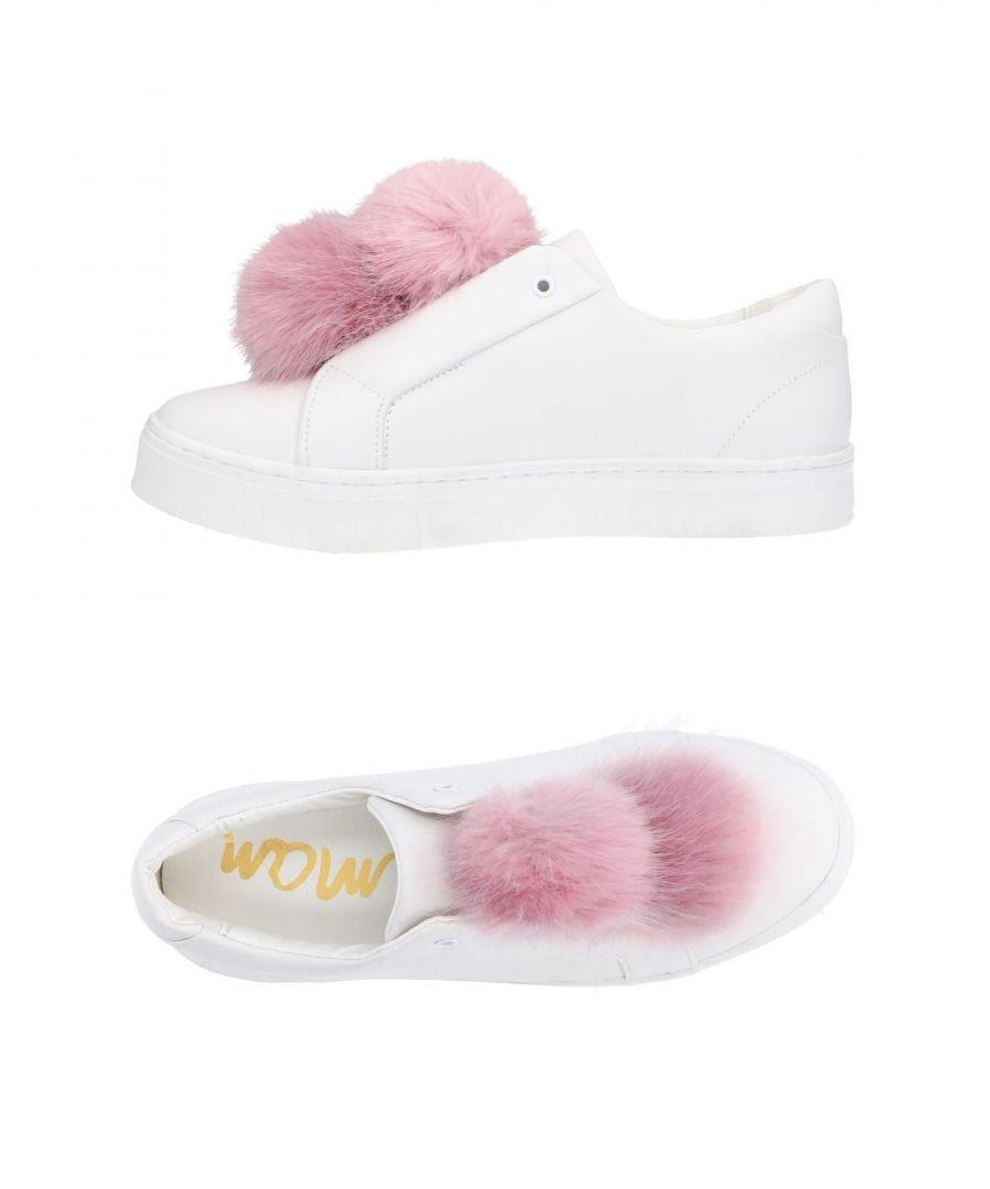 Image for Sam Edelman White Leather Pom Pom Sneakers