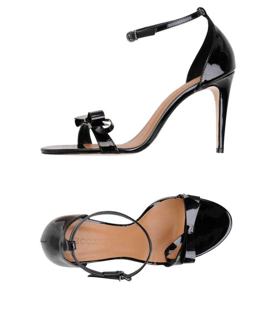 Image for Cecconello Black Leather Heeled Sandals