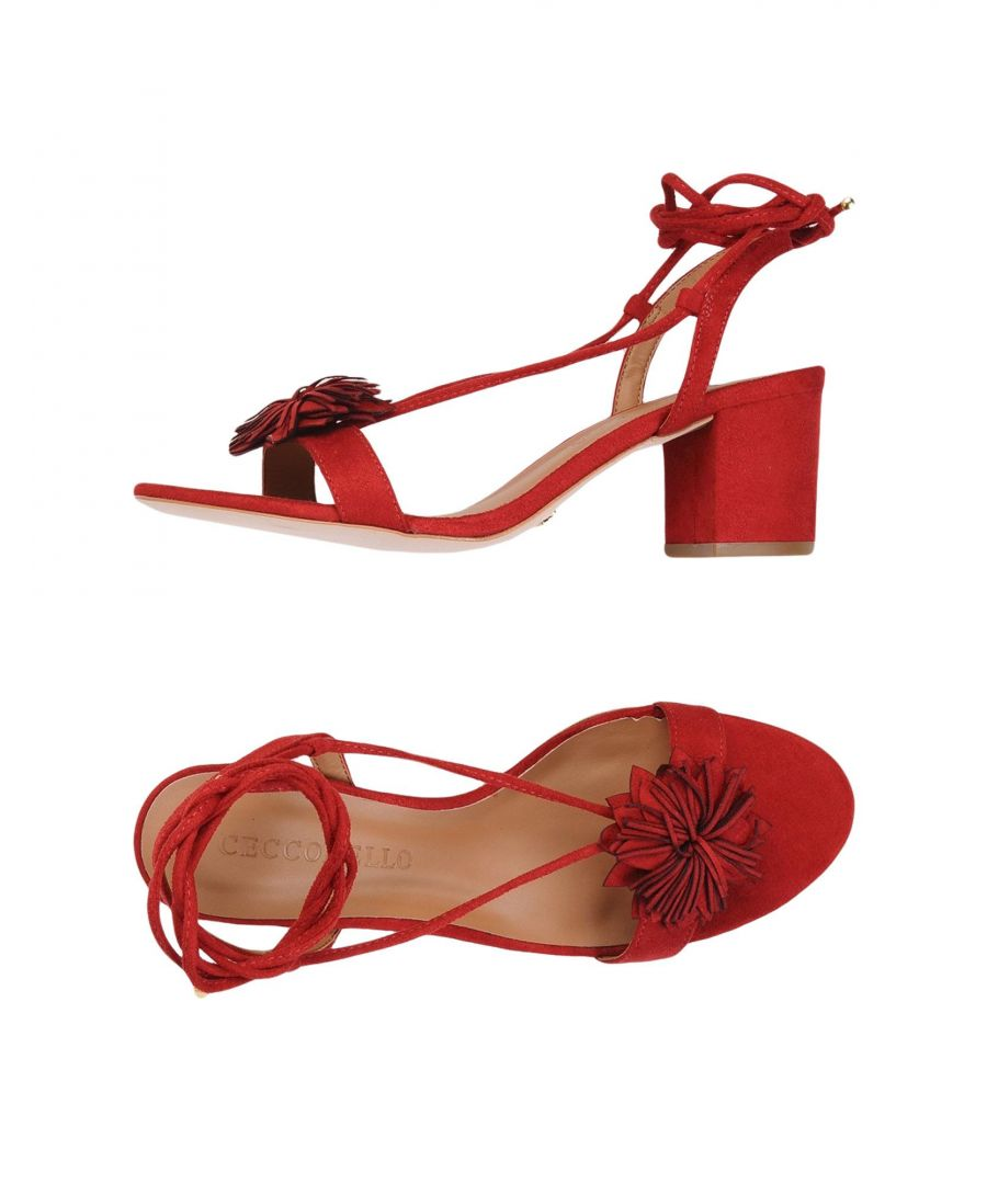 Image for Cecconello Red Heeled Sandals