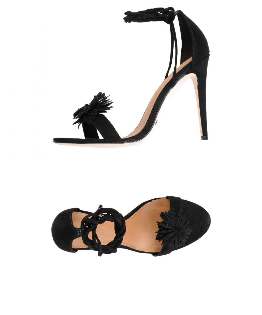 Image for Cecconello Black Flower Detail Heeled Sandals