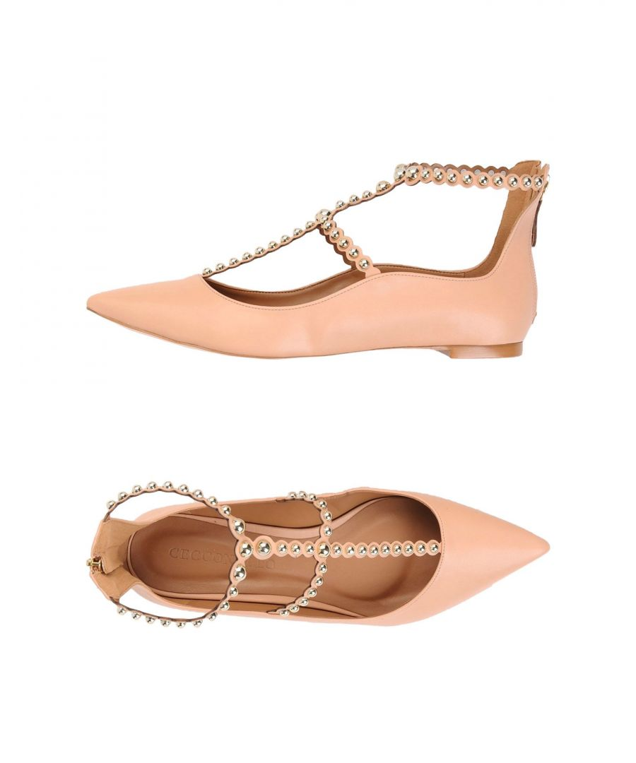 Image for Cecconello Apricot Studded Flats