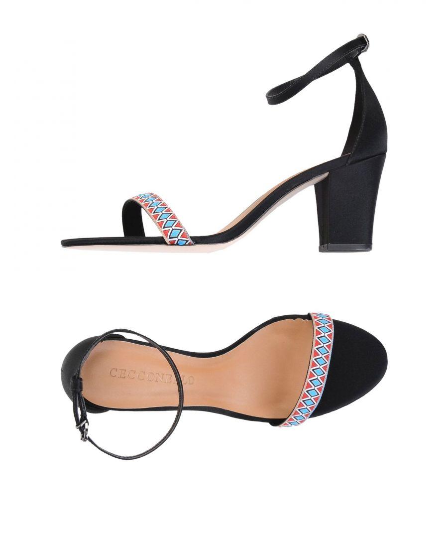 Image for Cecconello Black Heeled Sandals