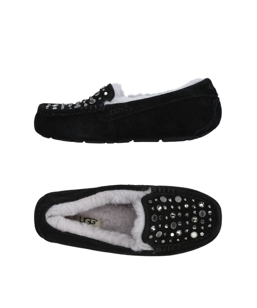 Image for Ugg Australia Black Leather Studded Slippers