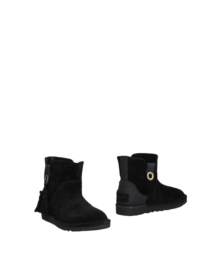 Image for Ugg Australia Black Leather Ankle Boots