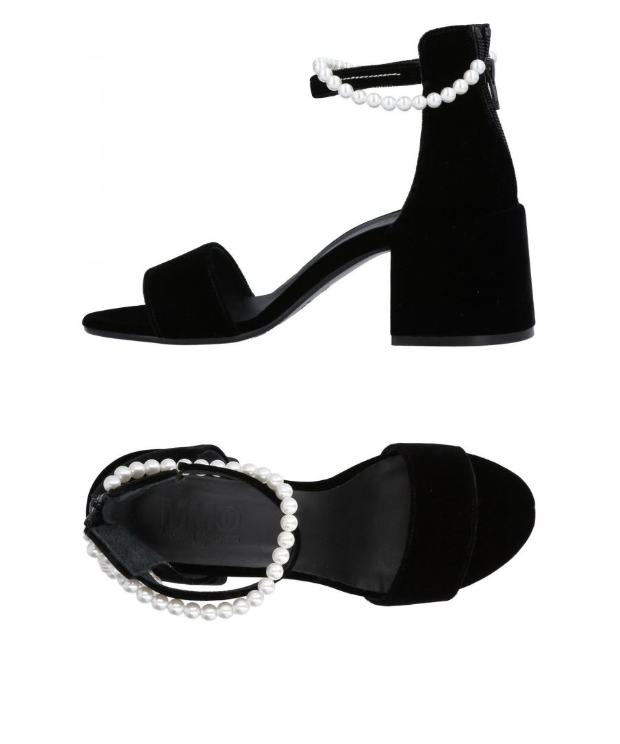 Image for MM6 Maison Margiela Black Heeled Sandals