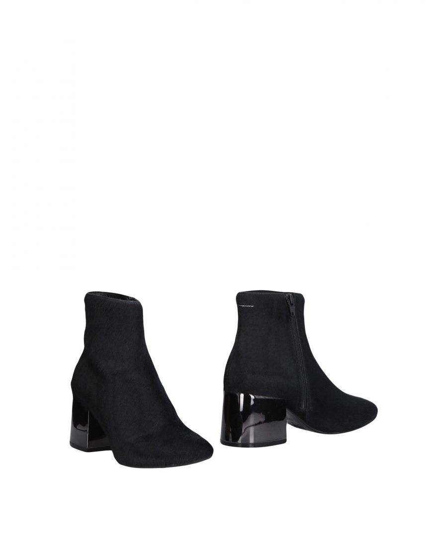 Image for MM6 Maison Margiela Black Leather Ankle Boots