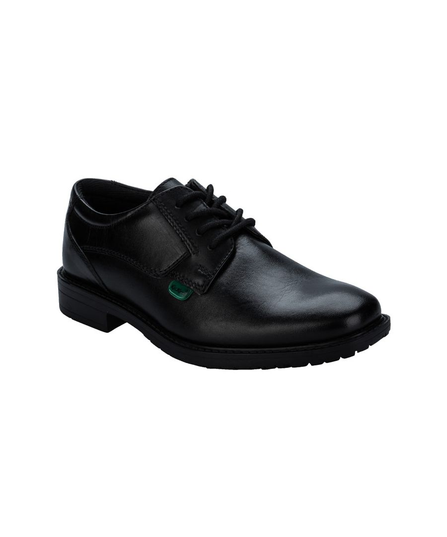 Image for Boy's Kickers Children Chreston Lace Shoe in Black