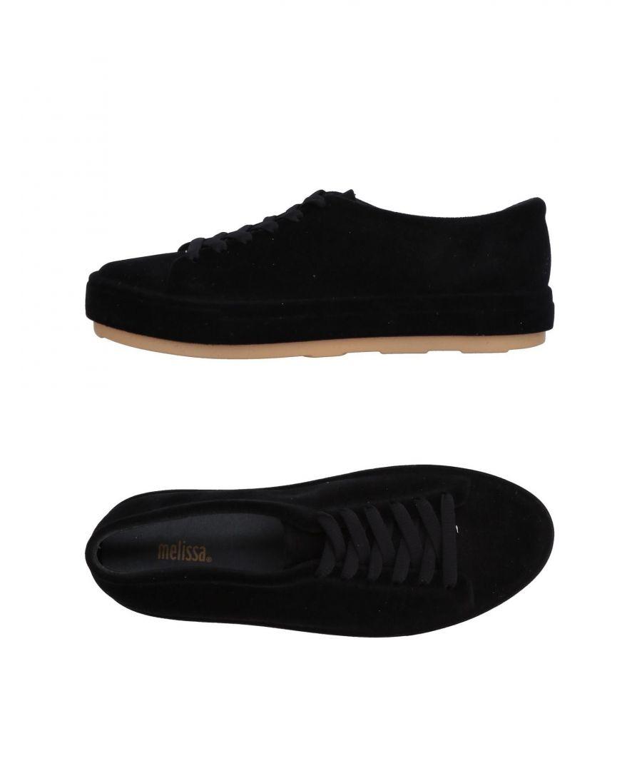 Image for Melissa Black Velvet Flat Shoes