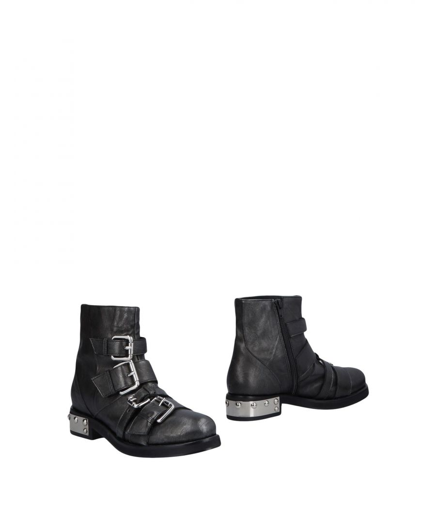Image for Giancarlo Paoli Steel Grey Leather Biker Boots