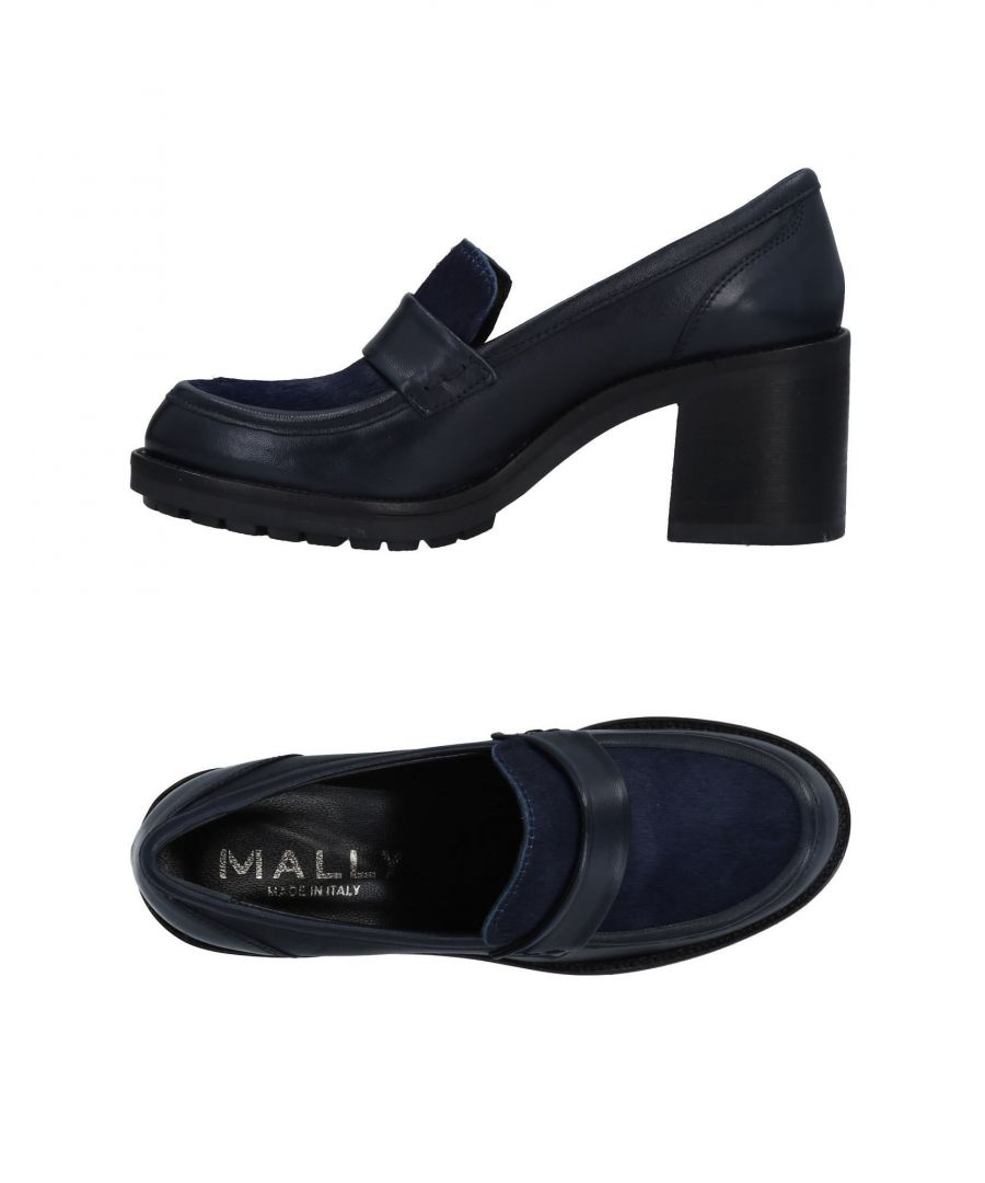 Image for Mally Blue Leather Heeled Loafers