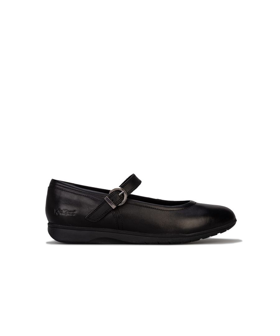 Image for Women's Kickers Perobelle Bar Leather Shoes in Black