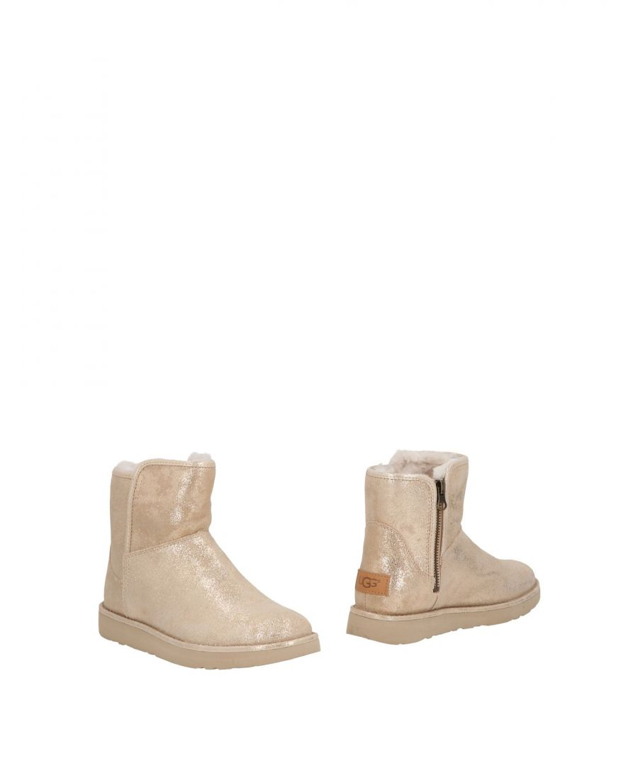 Image for Ugg Australia Beige Leather Ankle Boots