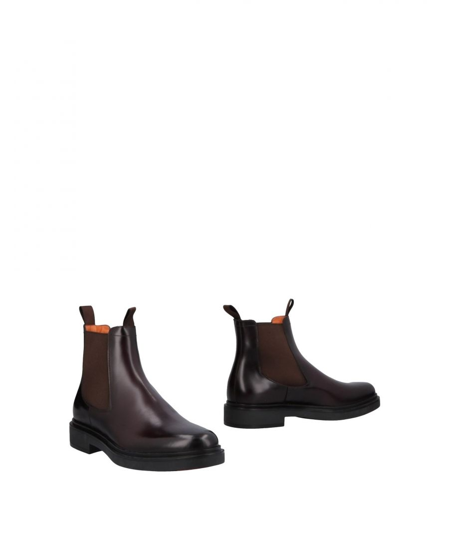 Image for Santoni Deep Purple Leather Boots