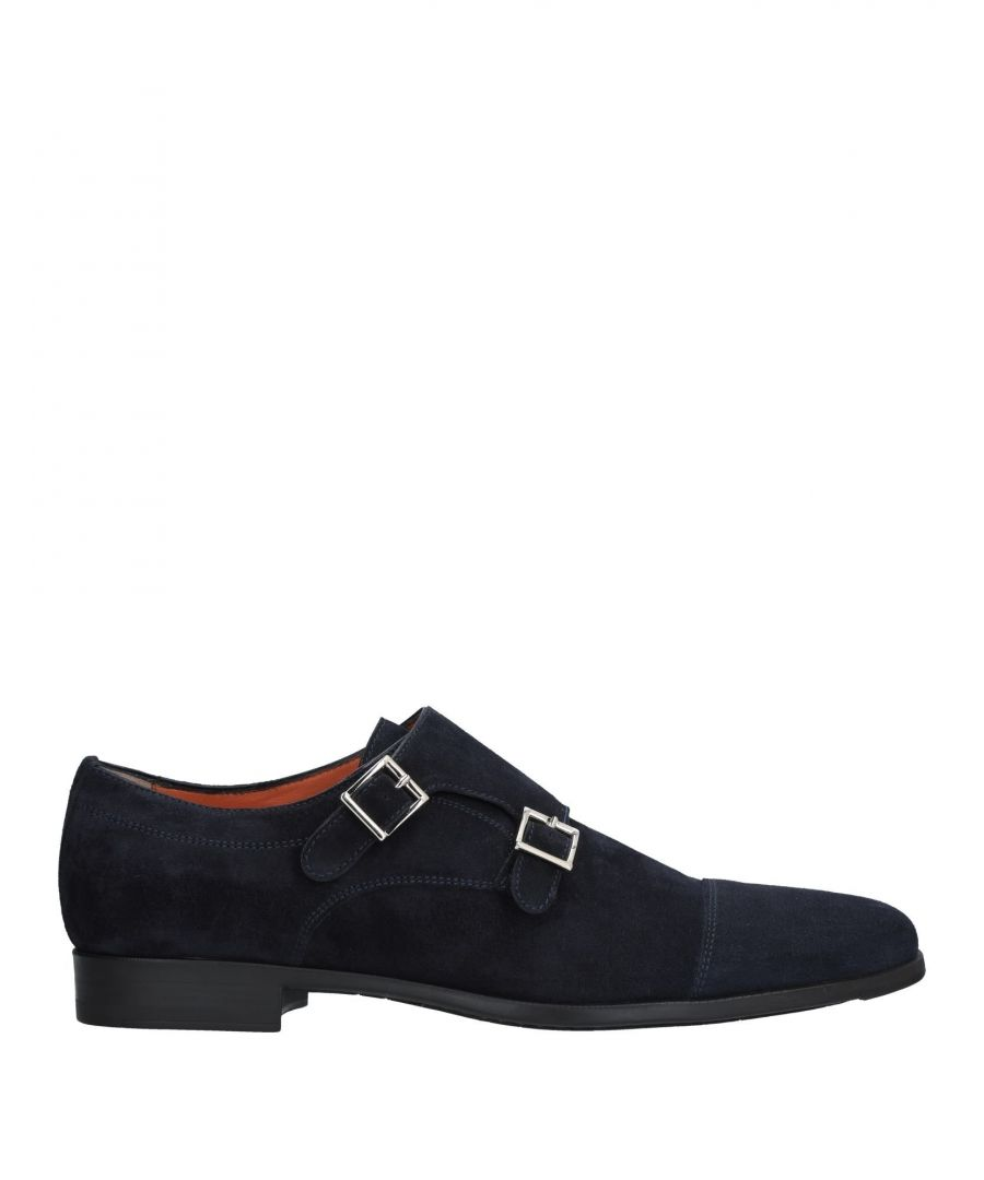 Image for Santoni Blue Leather Double Monkstrap Shoes