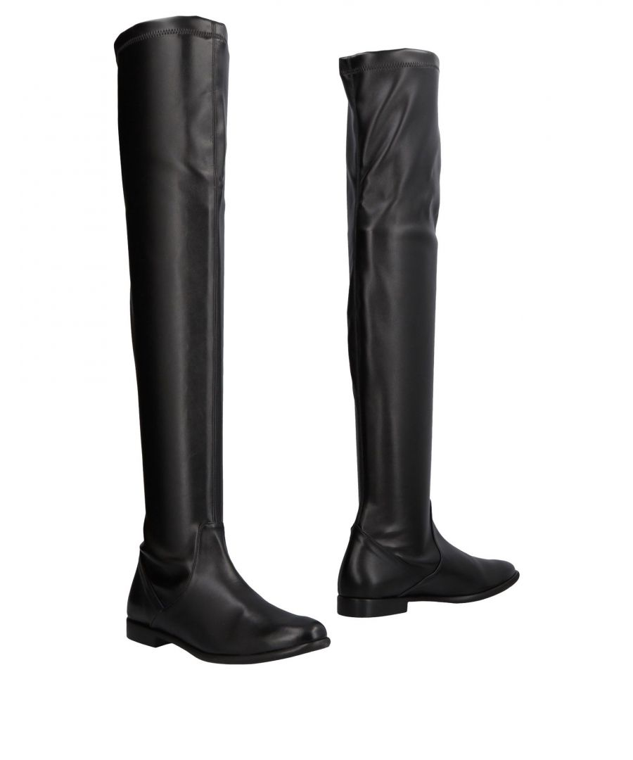 Image for Anna F. Black Over The Knee Boots