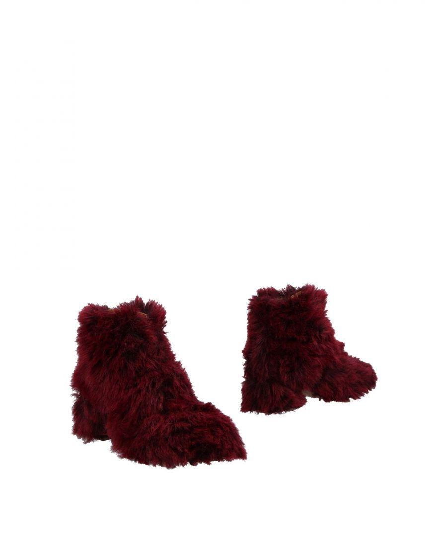 Image for L'F Shoes Woman Ankle boots Deep purple Textile fibres