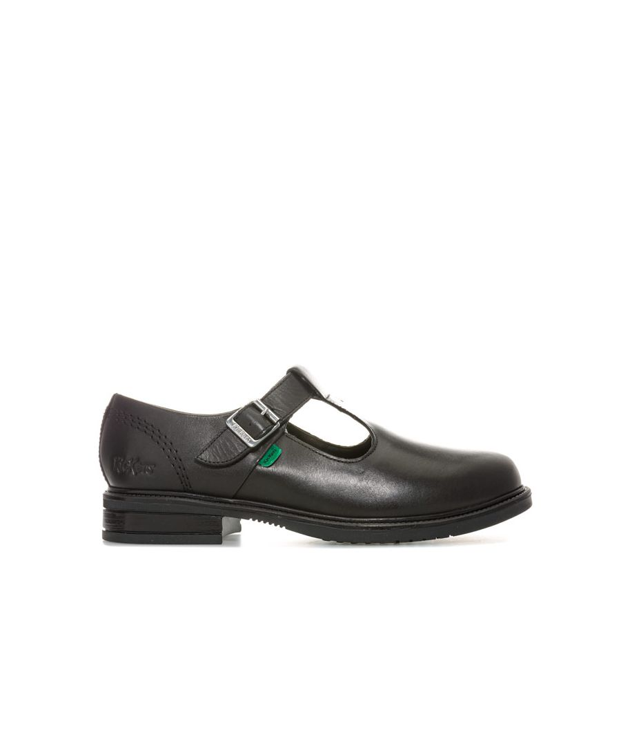 Image for Women's Kickers Lach T Bar Shoes in Black