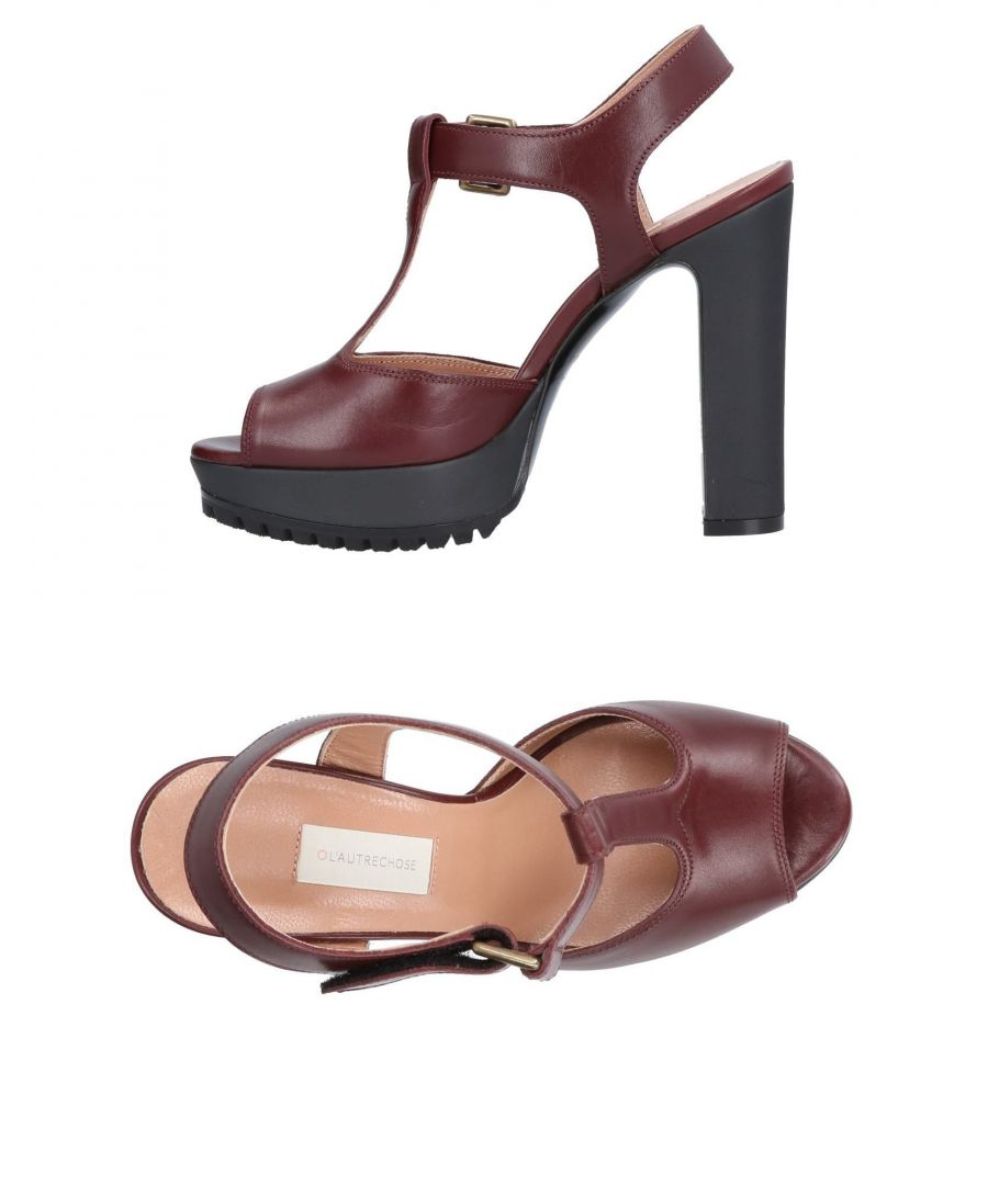 Image for L' Autre Chose Cocoa Leather Heeled Sandals