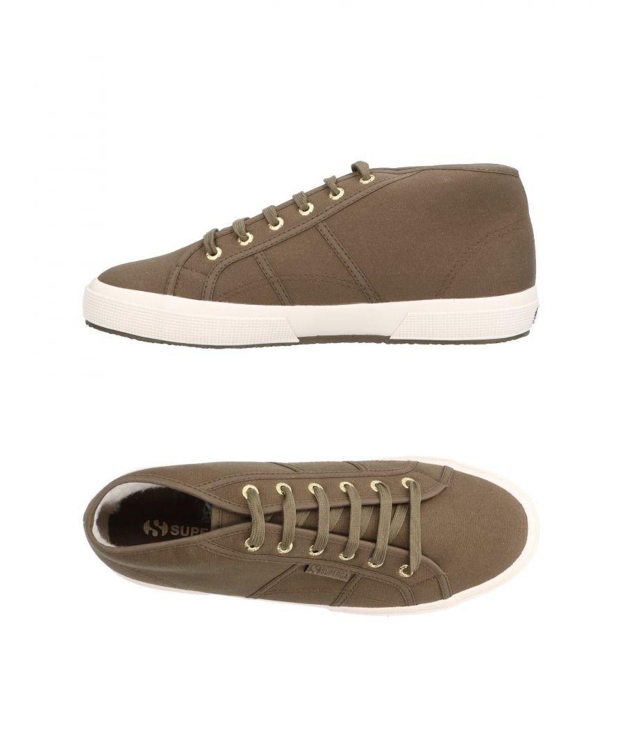 Image for Superga Military Green Cotton Canvas Sneakers