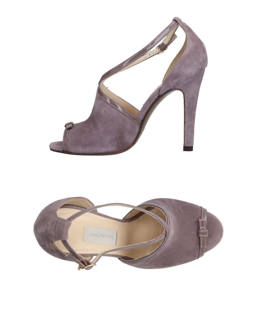 Image for L' Autre Chose Dove Grey Leather Heeled Sandals