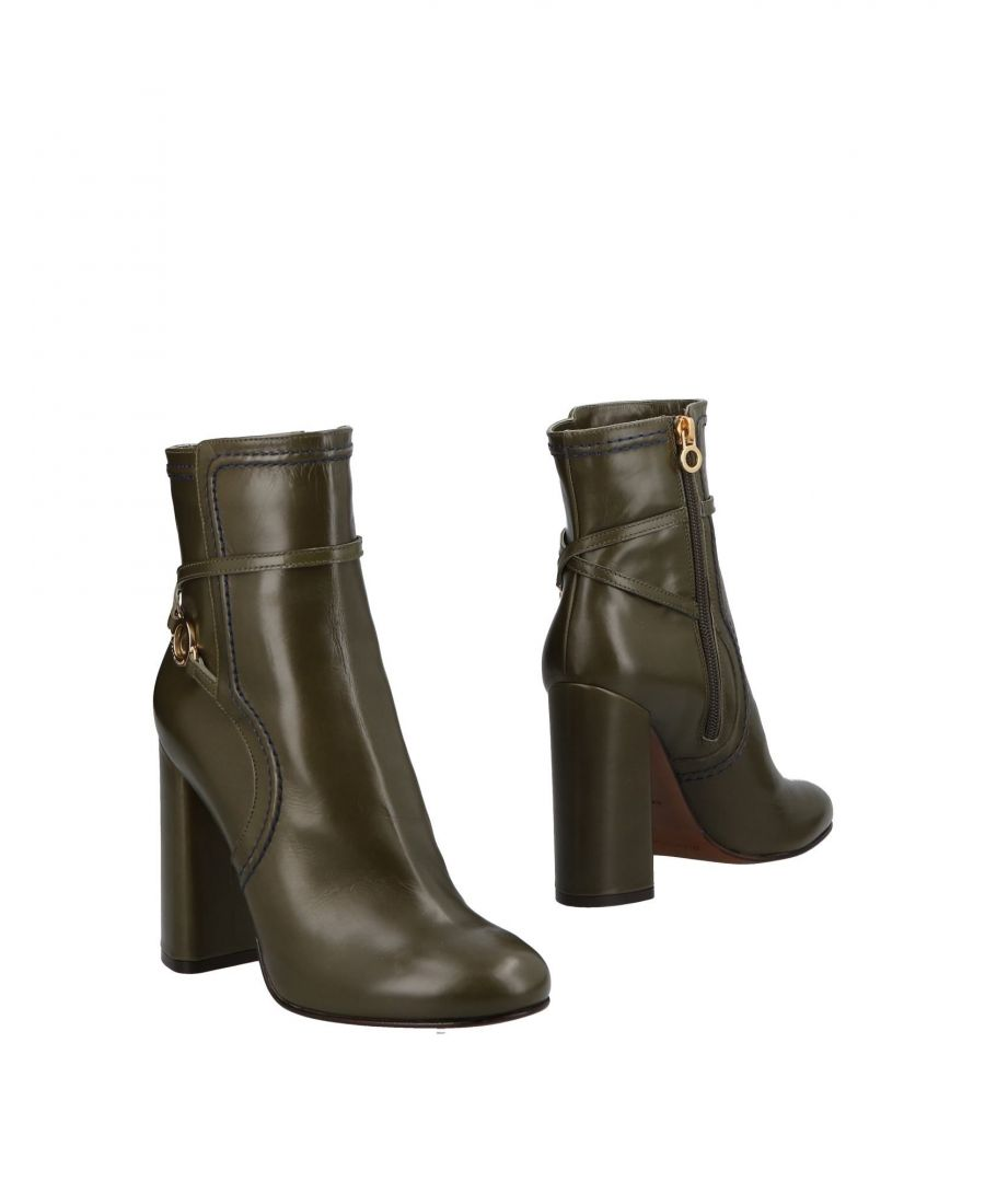 Image for L' Autre Chose Military Green Calf Leather Ankle Boots