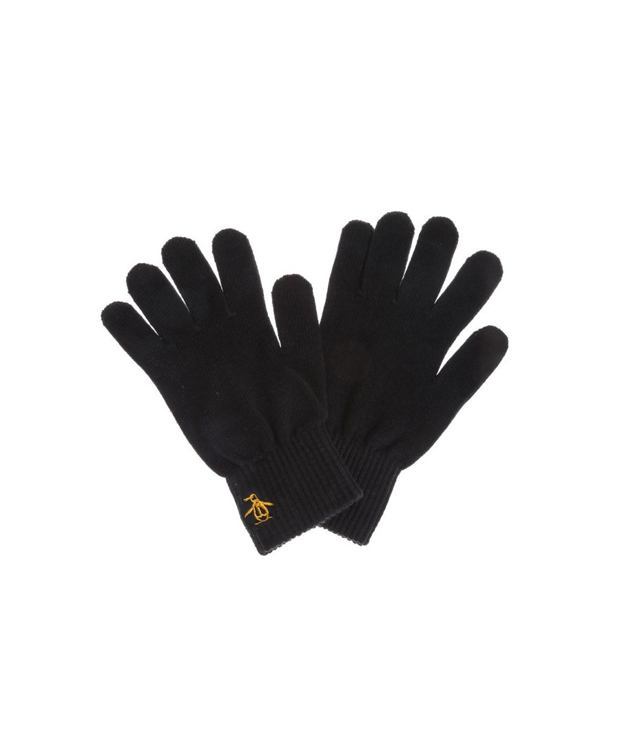 Image for Accessories Original Penguin Basic Logo Glove in Black Gold