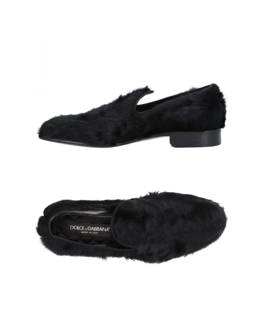 Image for Dolce & Gabbana Black Lambskin Leather Loafers