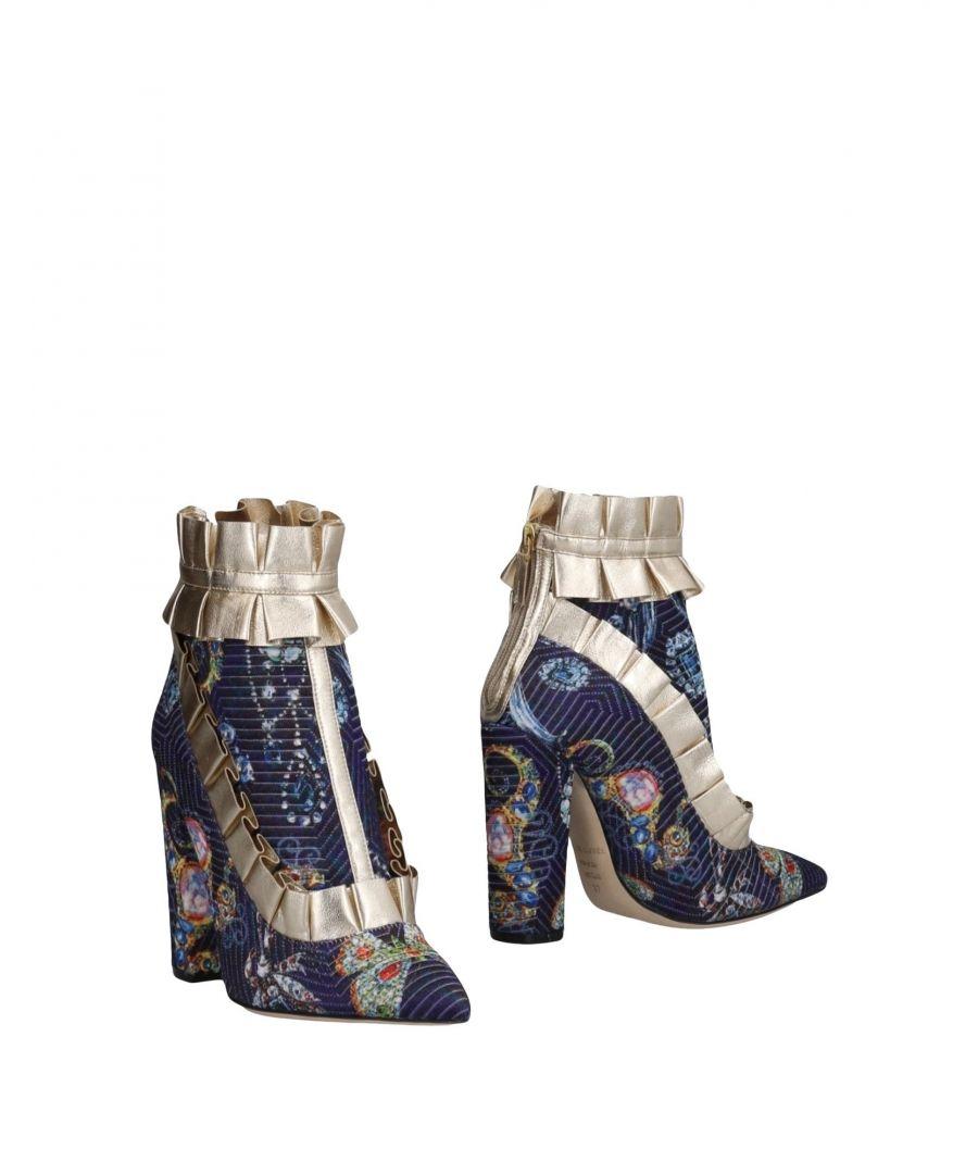 Image for Racine Carrée Purple Floral Design Ankle Boots