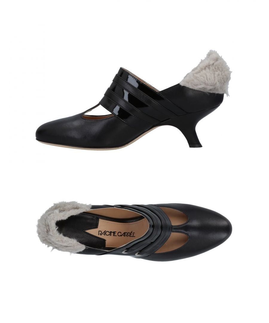 Image for Racine Carrée Black Leather Heels