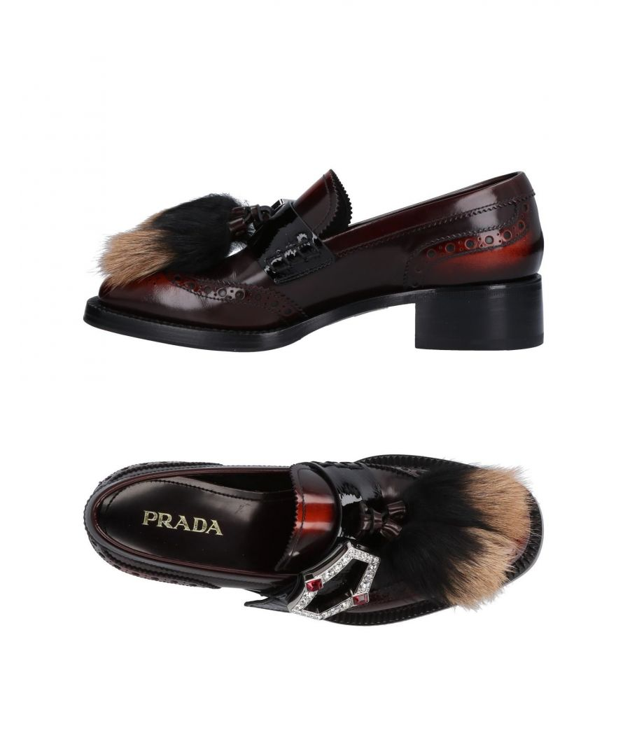 Image for Prada Brick Red Patent Leather Loafers