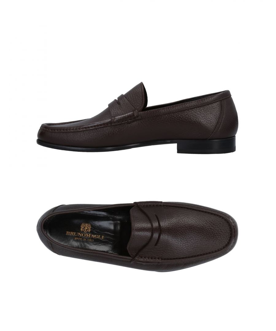 Image for Bruno Magli Cocoa Textured Leather Loafers