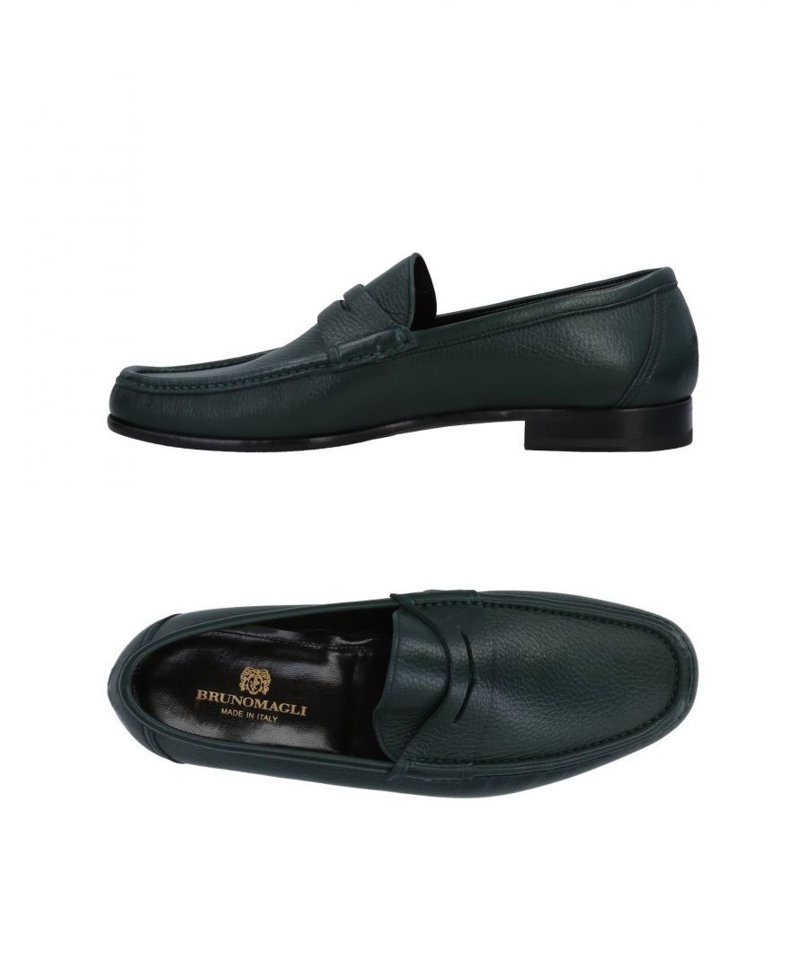Image for Bruno Magli Green Leather Loafers