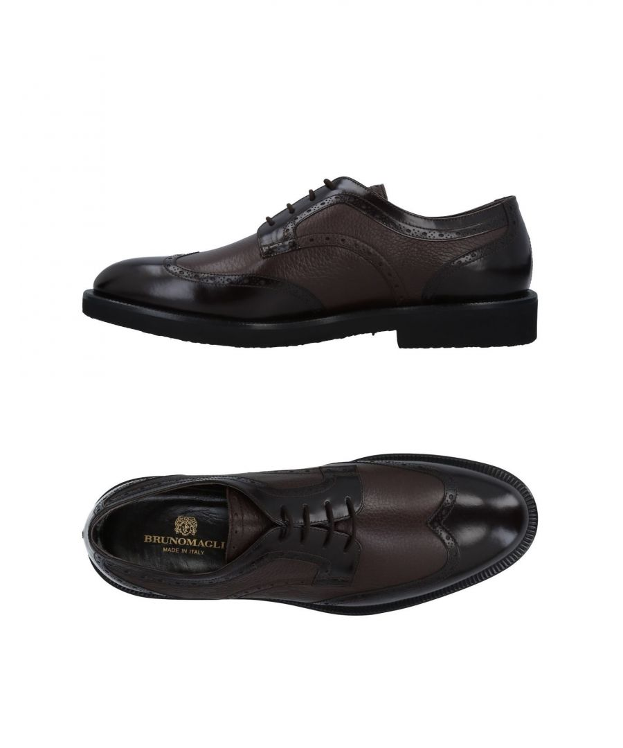 Image for Bruno Magli Dark Brown Buck Leather Shoes