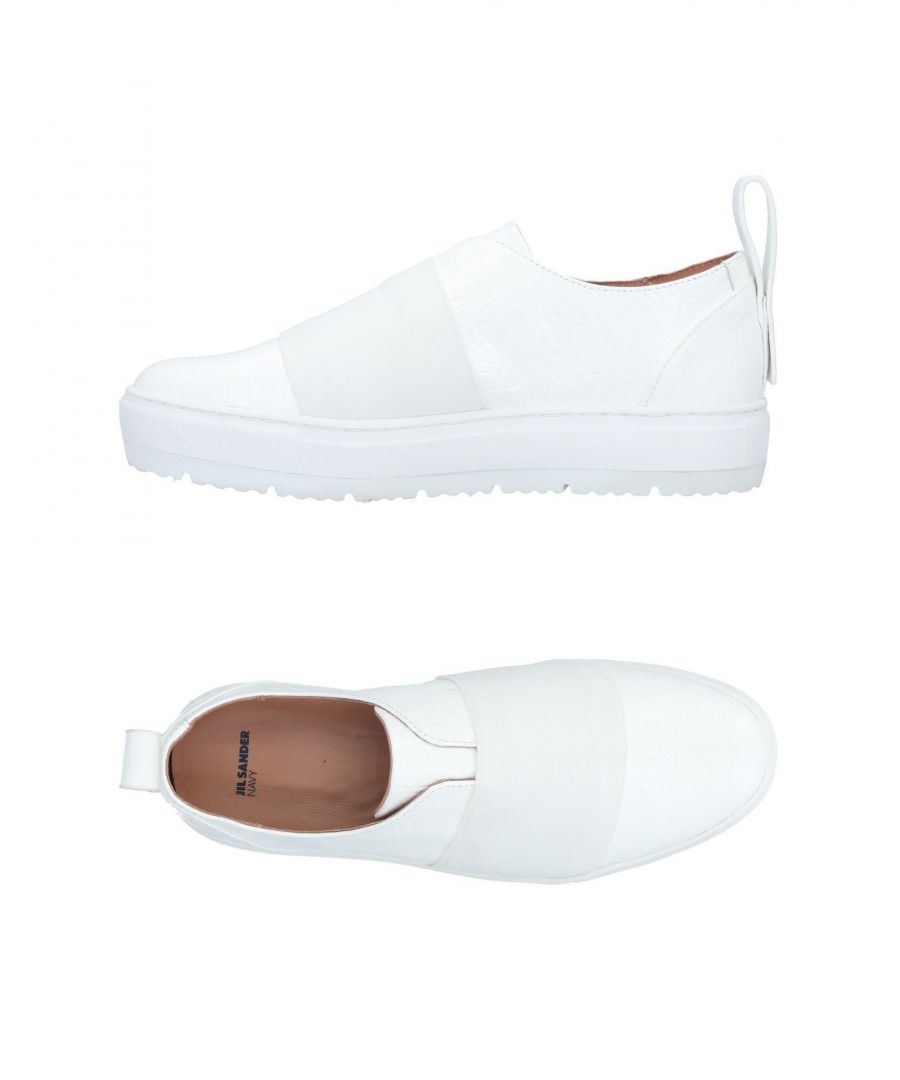 Image for Jil Sander Navy White Calf Leather Slip Ons