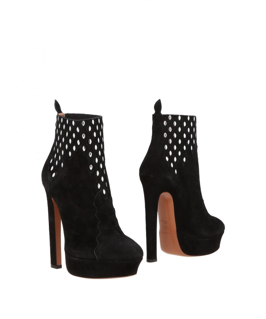 Image for Alaia Black Leather Ankle Boots
