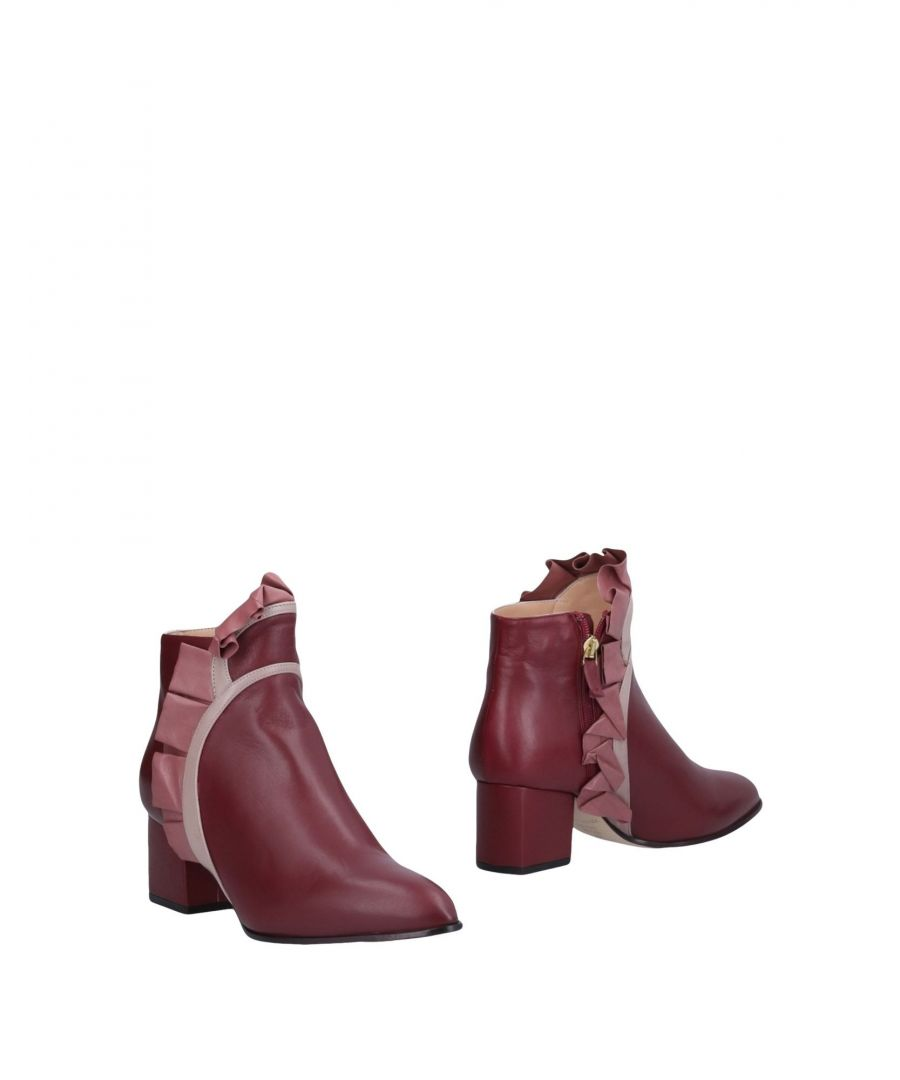 Image for Racine Carrée Woman Ankle boots Maroon Leather