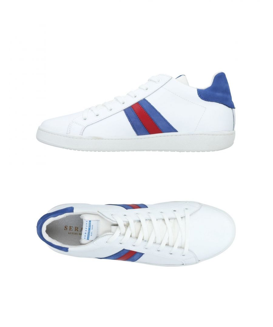 Image for Serafini Luxury White Leather Sneakers