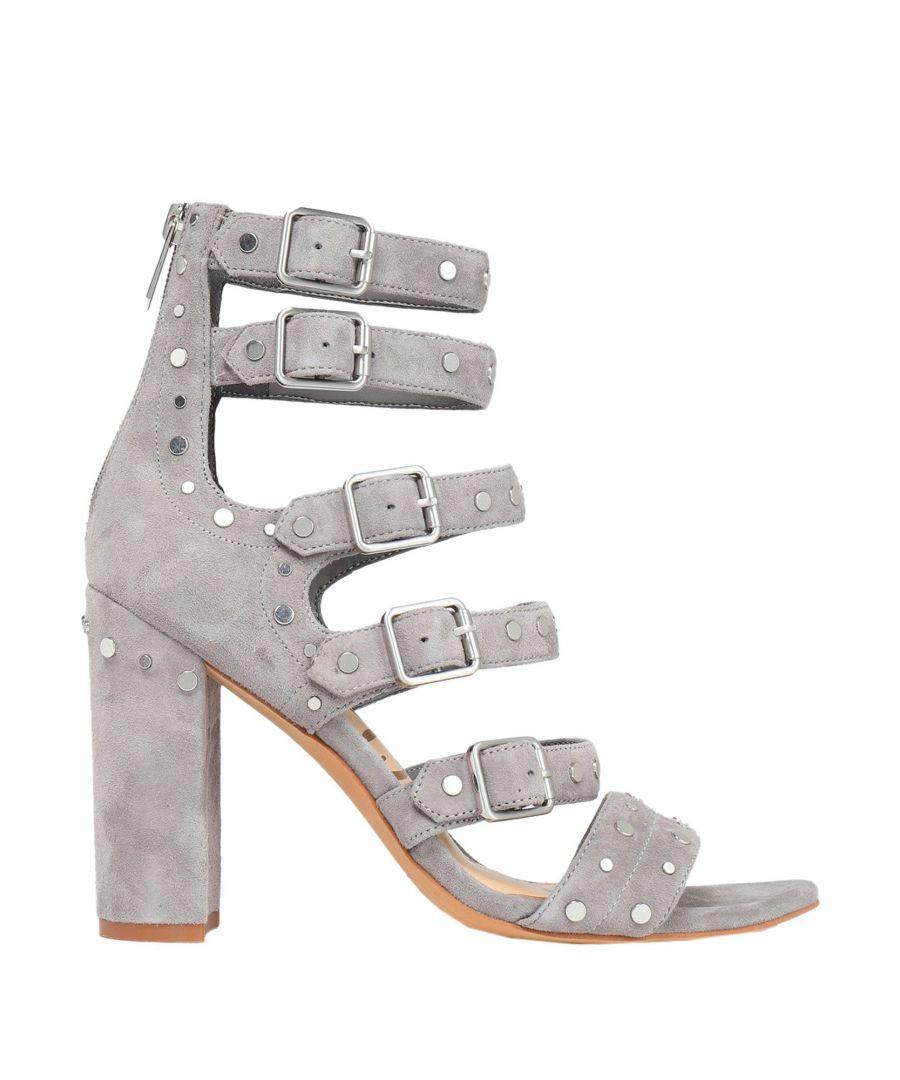 Image for Sam Edelman Grey Leather Heeled Sandals