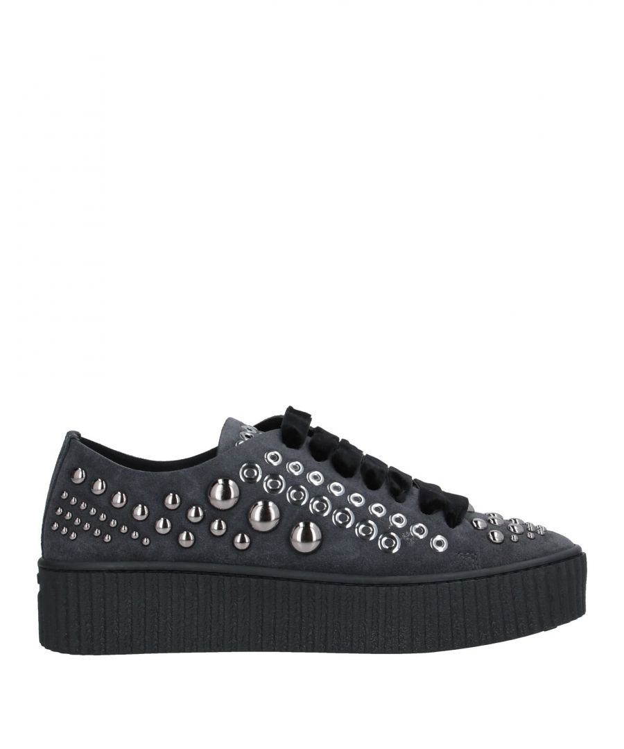 Image for Pinko Lead Leather Studded Sneakers