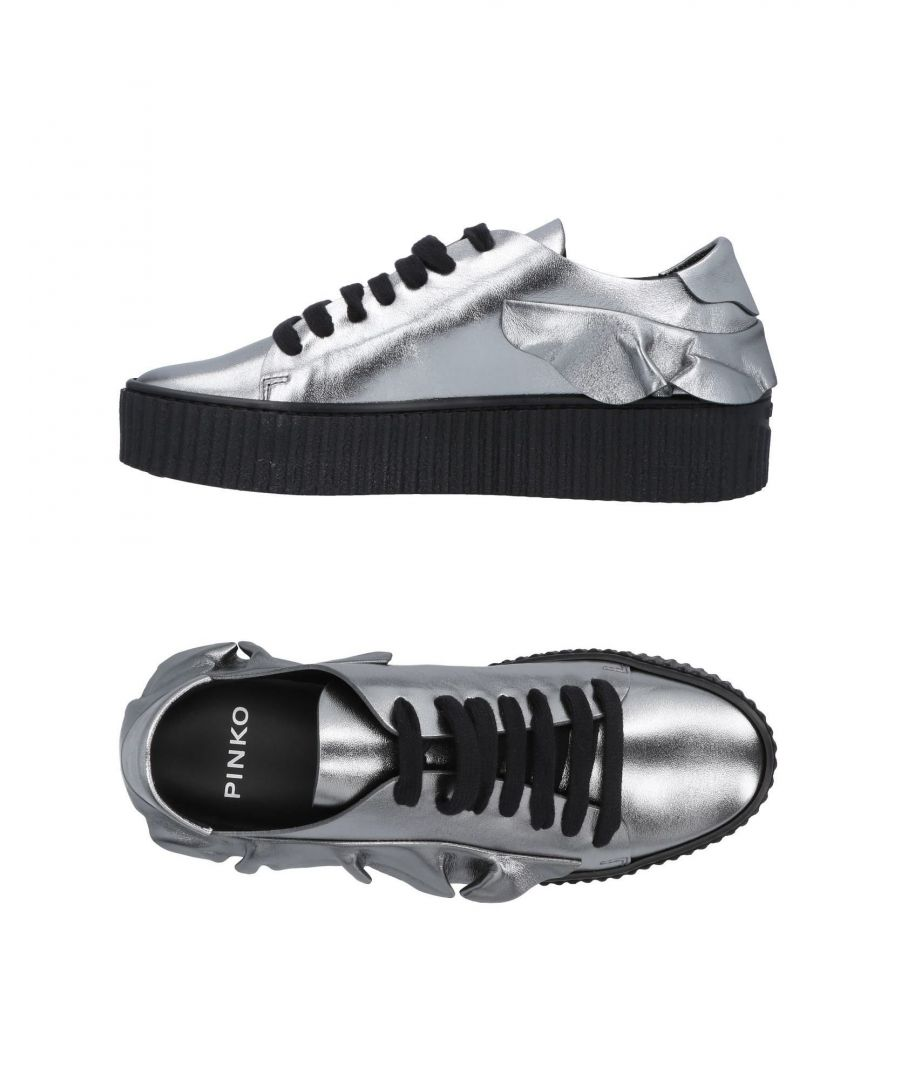 Image for Pinko Lead Nappa Leather Lace Up Shoes