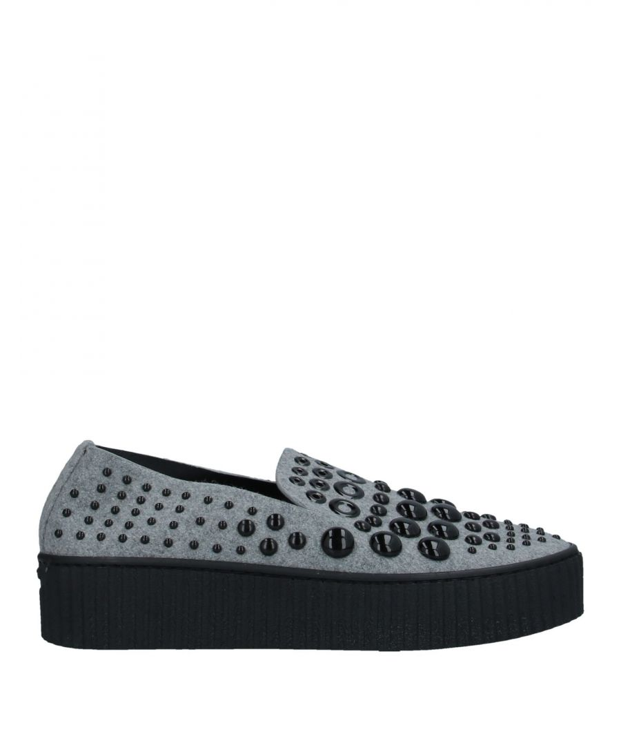 Image for Pinko Light Grey Studded Slip On Loafers