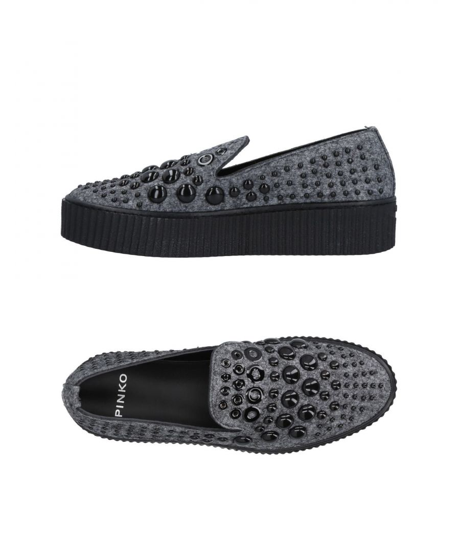Image for Pinko Grey Studded Slip On Loafers