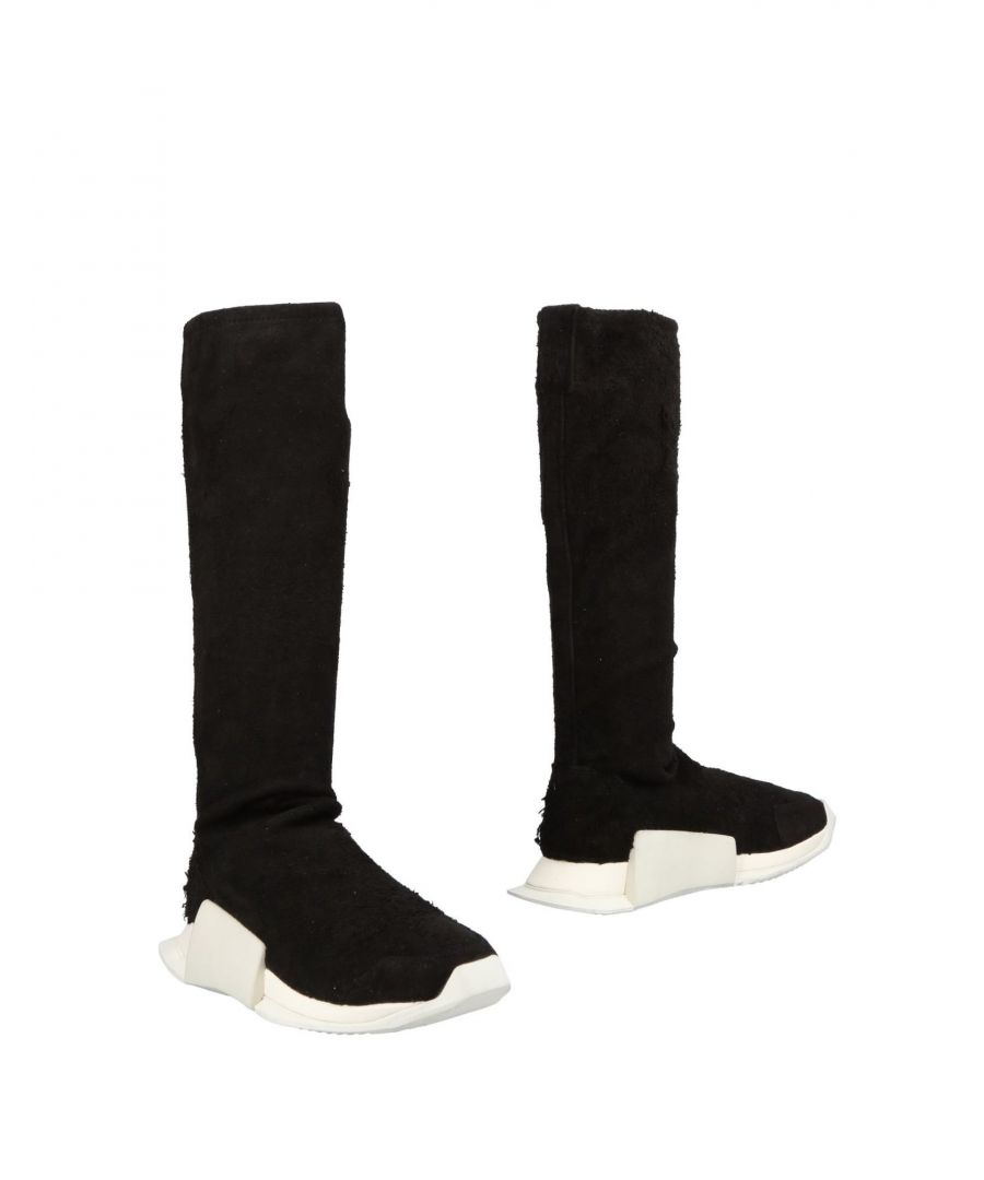 Image for Rick Owens X Adidas Black Leather Sneakers