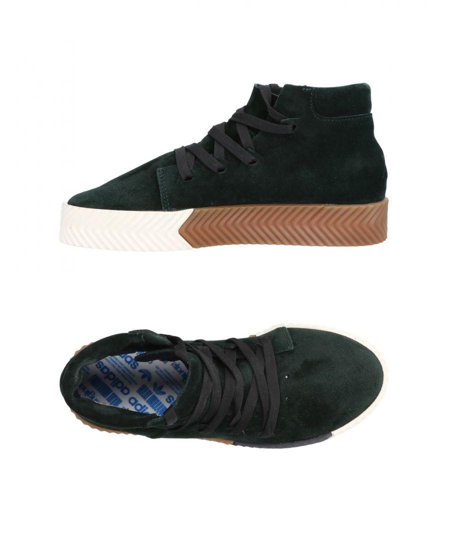 Image for Adidas Dark Green Leather Sneakers