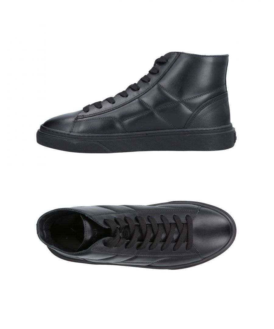 Image for Hogan Black Leather Sneakers