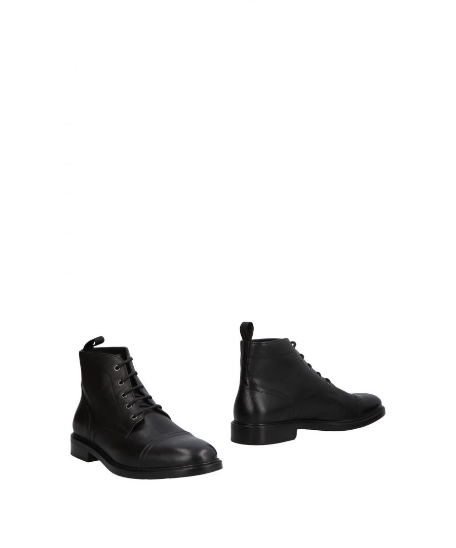 Image for Geox Black Leather Ankle Boots